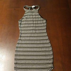 Windsor striped bodycon mini dress